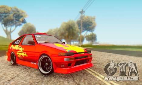 Toyota Corolla AE86 DS for GTA San Andreas right view