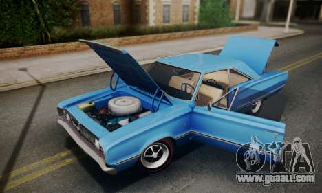 Dodge Coronet 440 Hardtop Coupe (WH23) 1967 for GTA San Andreas back view