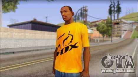 Cj Fox T-Shirt for GTA San Andreas