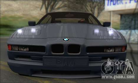 BMW E31 850CSi 1996 for GTA San Andreas back left view