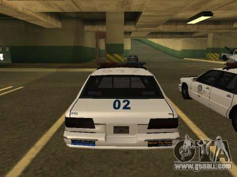 Police Original Cruiser v.4 for GTA San Andreas back view