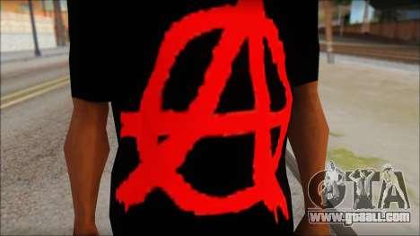 Anarhcy T-Shirt v1 for GTA San Andreas third screenshot