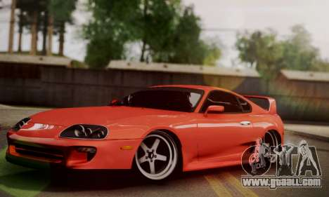 Toyota Supra Stock for GTA San Andreas back left view