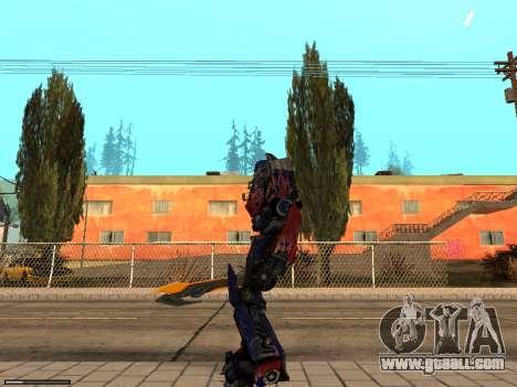 Optimus Sword for GTA San Andreas second screenshot