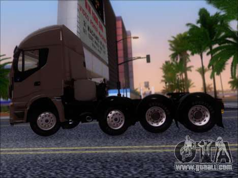 Iveco Stralis HiWay 560 E6 8x4 for GTA San Andreas back left view