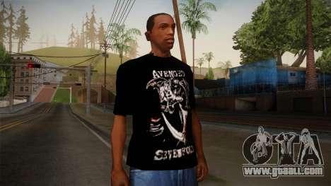Avenged Sevenfold Reaper Reach T-Shirt for GTA San Andreas