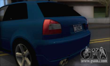 Audi A3 1999 for GTA San Andreas back view