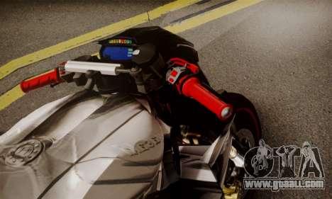 Kawasaki Z1000 2014 - The Predator for GTA San Andreas back left view