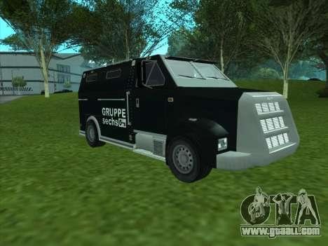 Securicar из GTA 3 for GTA San Andreas left view
