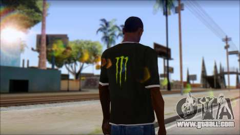 Monster T-Shirt Black for GTA San Andreas second screenshot