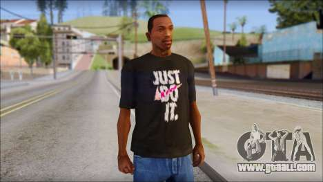 Just Do It NIKE Shirt for GTA San Andreas