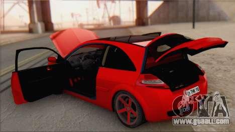 Renault Megane II HatchBack for GTA San Andreas back view
