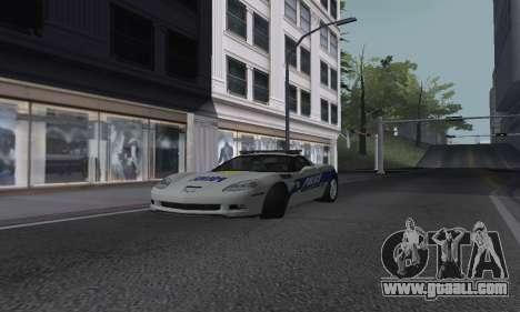 Chevrolet Corvette Z06 Police for GTA San Andreas