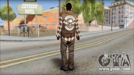 Biker from Avenged Sevenfold for GTA San Andreas second screenshot