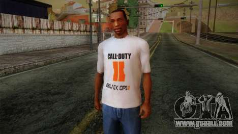 COD Black Ops II White Fan T-Shirt for GTA San Andreas