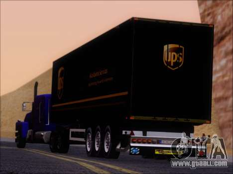 Прицеп United Parcel Service for GTA San Andreas side view