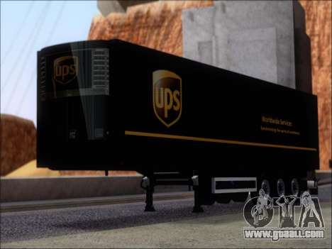 Прицеп United Parcel Service for GTA San Andreas left view