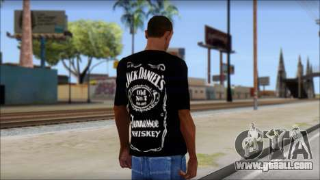 Jack Daniels Fan T-Shirt Black for GTA San Andreas second screenshot