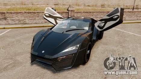 Lykan HyperSport Black for GTA 4 back view