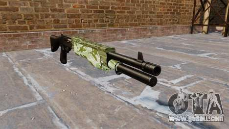 Ружьё Franchi SPAS-12 Green Camo for GTA 4