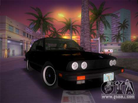 BMW 535i US-spec e28 1985 for GTA Vice City inner view