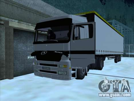 Mercedes-Benz Actros 1840 for GTA San Andreas inner view