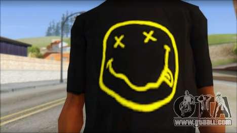 Nirvana T-Shirt for GTA San Andreas third screenshot