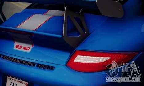 Porsche 911 GT3 RS4.0 2011 for GTA San Andreas