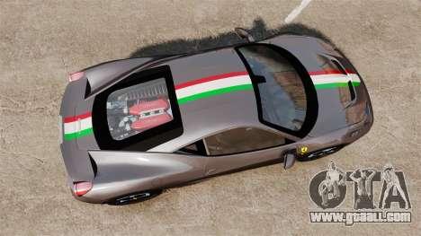 Ferrari 458 Italia Speciale Novitec Rosso for GTA 4 right view