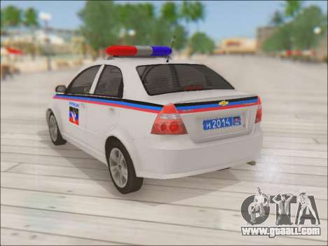 Chevrolet Aveo Police DND for GTA San Andreas back left view