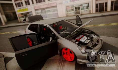 Honda Civic TypeR for GTA San Andreas back view