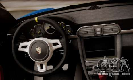 Porsche 911 GT3 RS4.0 2011 for GTA San Andreas interior