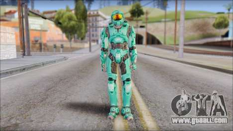 Masterchief Blue-Green from Halo for GTA San Andreas second screenshot