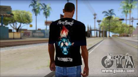 Papa Roach The Connection Fan T-Shirt for GTA San Andreas second screenshot