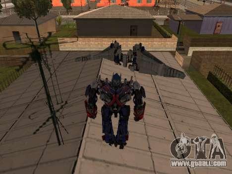 Optimus Jetpack for GTA San Andreas third screenshot