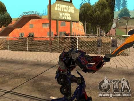 Optimus Sword for GTA San Andreas sixth screenshot
