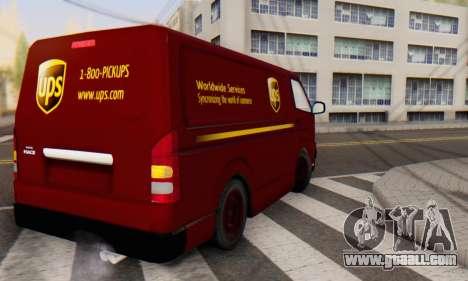 Toyota Hiace UPS Cargo Van 2006 for GTA San Andreas