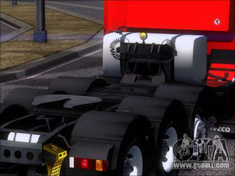 Iveco Stralis HiWay 560 E6 8x4 for GTA San Andreas upper view