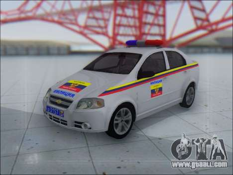 Chevrolet Aveo Милиция OНР for GTA San Andreas