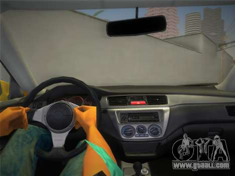 Mitsubishi Lancer Evolution 8 2004 for GTA Vice City right view