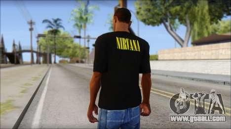 Nirvana T-Shirt for GTA San Andreas second screenshot