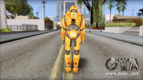 Masterchief Orange for GTA San Andreas third screenshot