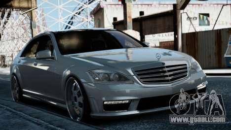 Mercedes-Benz S65 W221 AMG v1.3 for GTA 4 back left view