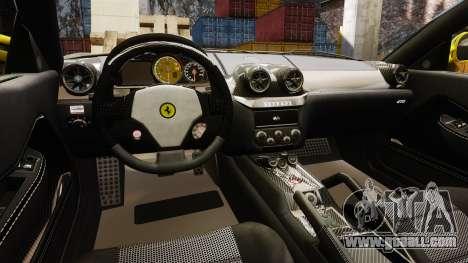 Ferrari 599 GTO PJ3 for GTA 4 inner view