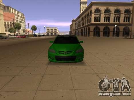 Mazda 3 for GTA San Andreas back view