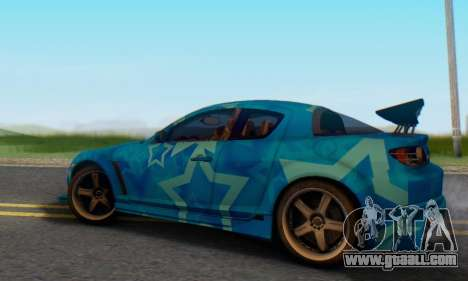 Mazda RX-8 VeilSide Blue Star for GTA San Andreas back left view