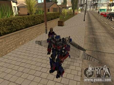 Optimus Jetpack for GTA San Andreas fifth screenshot