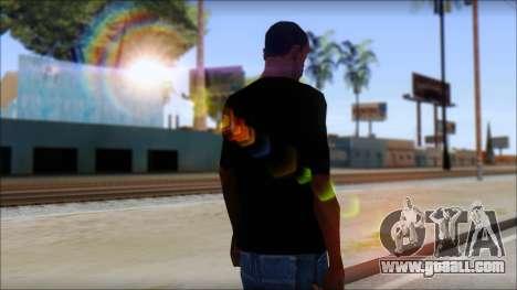 Red Pentagram Shirt for GTA San Andreas second screenshot