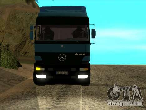 Mercedes-Benz Actros 1840 for GTA San Andreas back view