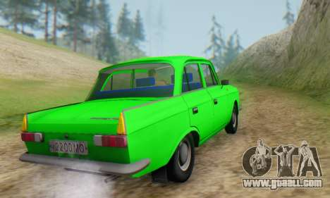Moskvich 412 [DSA] for GTA San Andreas back view